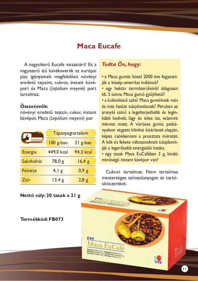 DXN termékek Eucafe
