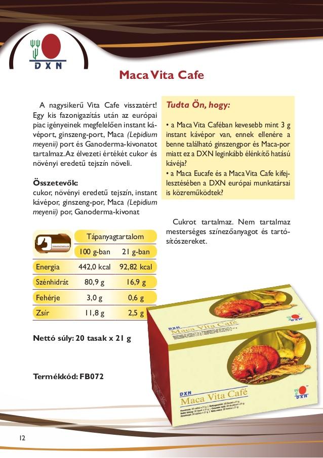DXN termékek Maca Vita