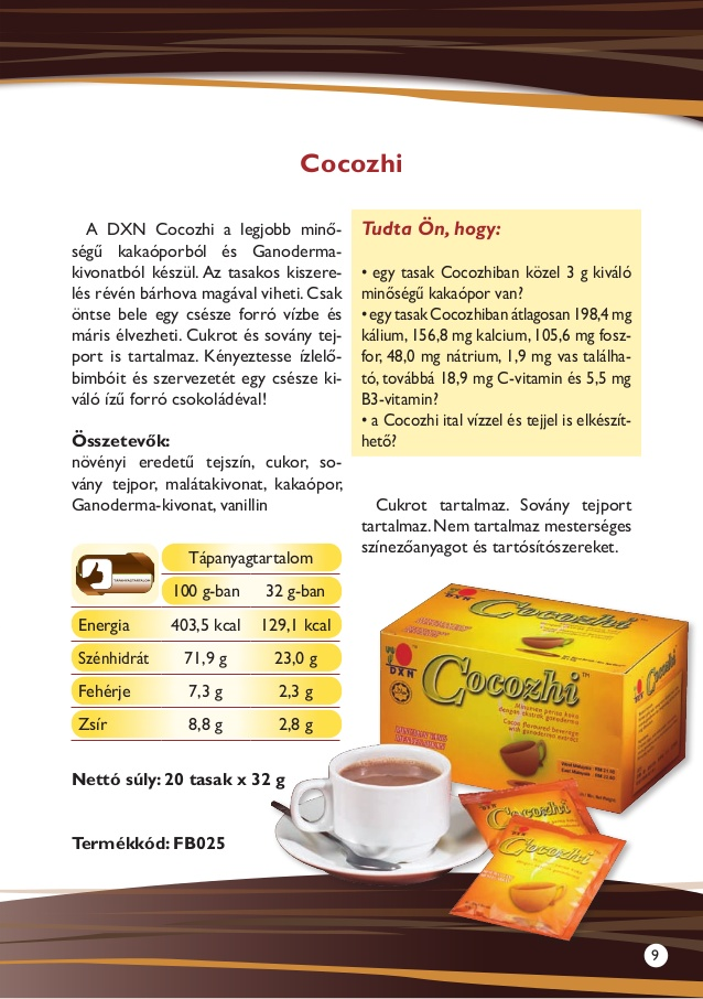DXN termékek Cocozhi